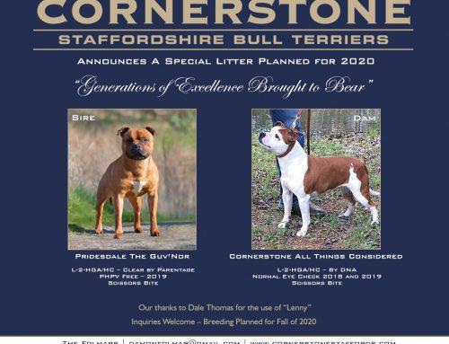 Cornerstone Announces 2020 Litter Plans